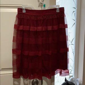 Metrowear skirt Burgundy